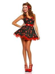 pin up girl costume women s 50 s cherry pop pinup girl costume wholesale