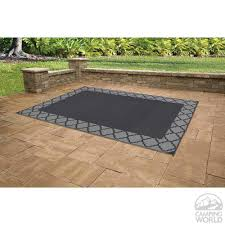 patio mat polypropylene trellis design 9 u0027x12 u0027 black grey