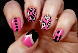 22 perfect nail designs pink and black u2013 slybury com