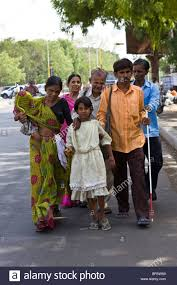 Who Leads The Blind 9 Year Old Manisha Who Is Sighted Leads Her Blind Family Members