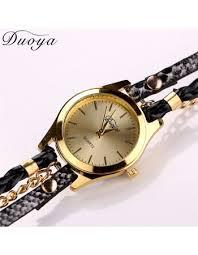 luxury gold bracelet watches images Hot sale top luxury gold watch fashion long leather bracelet watch jpg