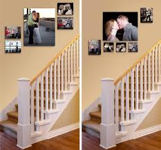stylish staircase decorating ideas wall lovely horizontal wall art
