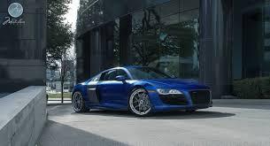 Audi R8 Blue - beautiful blue audi r8 v10 on modulare wheels gtspirit