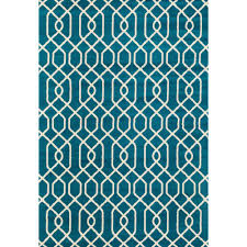 Modern Trellis Rug World Rug Gallery Modern Trellis Pattern Blue 7 Ft 6 In X 9 Ft