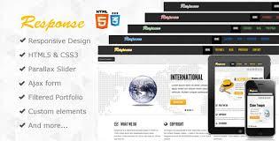 response responsive html5 template by webdevdesigner themeforest