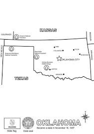 map of oklahoma coloring page free printable coloring pages
