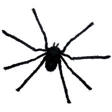 amazon com large black furry hairy spider extends up to 27