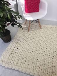 rug chunky knit carpet merino wool rug giant knit carpet