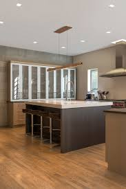 glide up down provides ideal task lighting for this island counter