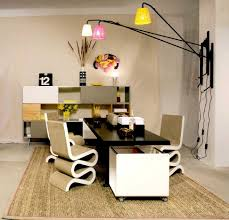 modern home office furniture design ideas with glossy black