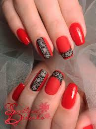 Red Colors The 25 Best Red Gel Nails Ideas On Pinterest Red Summer Nails