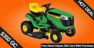 home depot black friday lawn mower deal free home depot card up to 350 w john deere purchase