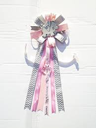 baby shower ribbon elephant baby shower corsage safari girl to be