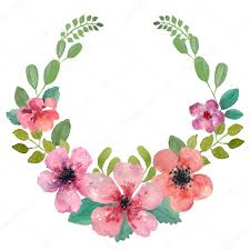 flower wreath watercolor floral wreath stock photo yaskii 58966693