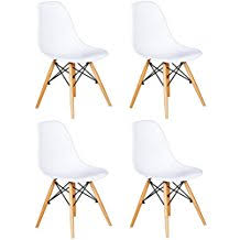 lot 4 chaises blanches amazon fr chaise scandinave