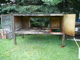Rabbit Hutch For Multiple Rabbits This Is Not A Farm Rehabbed Rabbit Hutch