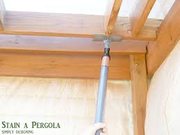 How To Cover A Pergola From Rain by How To Stain A Deck And Pergola