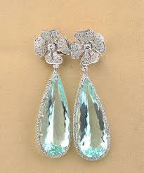 aquamarine drop earrings spectacular large 56 00 ct aquamarine and diamond