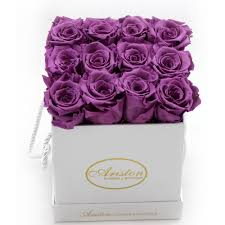 purple roses everlasting purple roses ariston flowers and boutique