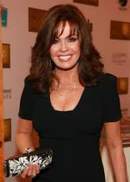 marie osmond hairstyles feathered layers marie osmond medium straight formal hairstyle with layered bangs