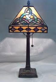 knot mission style tiffany table lamp throughout mission style
