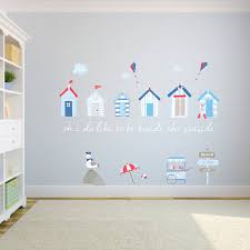 beach huts fabric wall stickers by littleprints beach huts fabric wall stickers