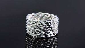 silver wire rings images 925 plain sterling silver wire basket weave ring band r704 jpg