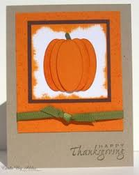 happy thanksgiving pumpkin pie card using stin up layered