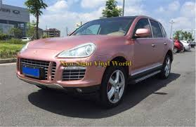 porsche vinyl 2018 best quality electric chrome rose gold car vinyl wrap foil