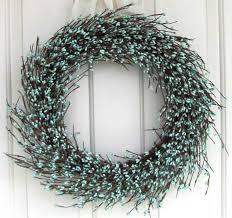 berry wreath wreath teal blue pip berry wreath theme easter