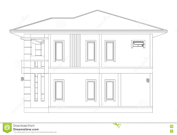 drawing of 3d home building side view stock illustration image
