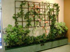an outdoor metal trellis similar to this mounted on your brick