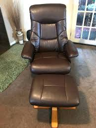 recliner recliner chair with footstool leather swivel and stool