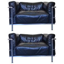early pair of lc3 grand confort lounge chair by le corbusier at