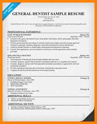 Sample Dentist Resume by 5 Dentist Resume Format Resume Sections