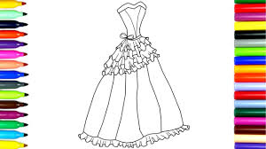 coloring new design princess dresses drawing pages to color for