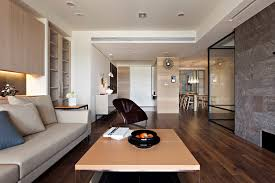Apartment With A Retractable Interior Wall By Fertility Design - Living room apartment design