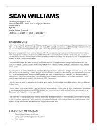 sle of resume williams resume