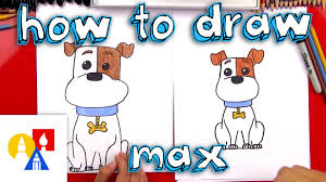 how to draw max from the secret life of pets youtube