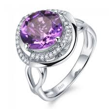 natural amethyst rings images Heaven halo trendy luxury 4 5ct genuine natural amethyst jpg