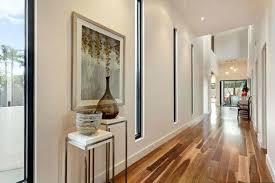 Narrow Wall Mirror Long Hallway With Wall Mirror And Herringbone Floors Also Black