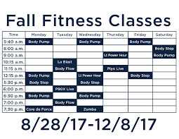 group fitness classes lebanon valley college