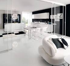kitchen neat black and white kitchen design with cherry accent
