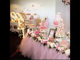 wedding candy table custom floral tulle table skirt party birthday wedding candy