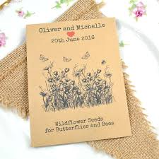 wildflower seed packets butterfly wedding favours bee wedding favours seed packet