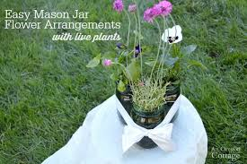 jar flower arrangements jar flower arrangements with live plants