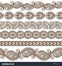 ornamental seamless borders vector set with abstract floral