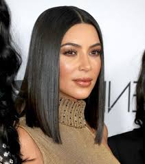 blunt cut bob hairstyle photos photo gallery of long bob hairstyles kim kardashian viewing 3 of