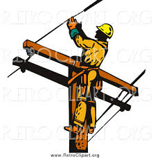clipart of a lineman worker on a pole by patrimonio 1372