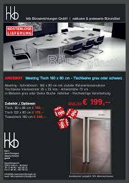 Schreibtisch Schwarz G Stig Büromöbel Günstig Besprechungstische Für Ihr Büro Oder Ihren
